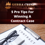 5 Tips For Winning A Contract Lawsuit