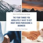 buying a business - reno business attorney